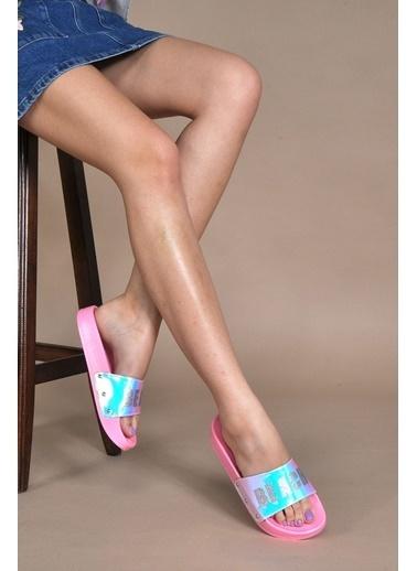 Vizon Ayakkabı Terlik Pembe